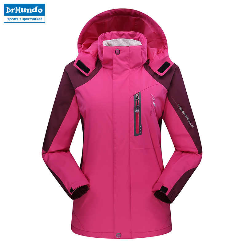 Wanita Jaket Ski Gunung Menebal Ukuran Bulu Ski-Pakai Tahan Air Hiking Outdoor Snowboard Jaket Tahan Angin Salju Jaket