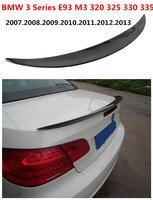 HLONGQT spojler z włókna węglowego dla BMW serii 3 E93 M3 320 325 330 335 2007 2013 wysokiej jakości samochodów spoilery Auto akcesoria w Spoilery i skrzydła od Samochody i motocykle na