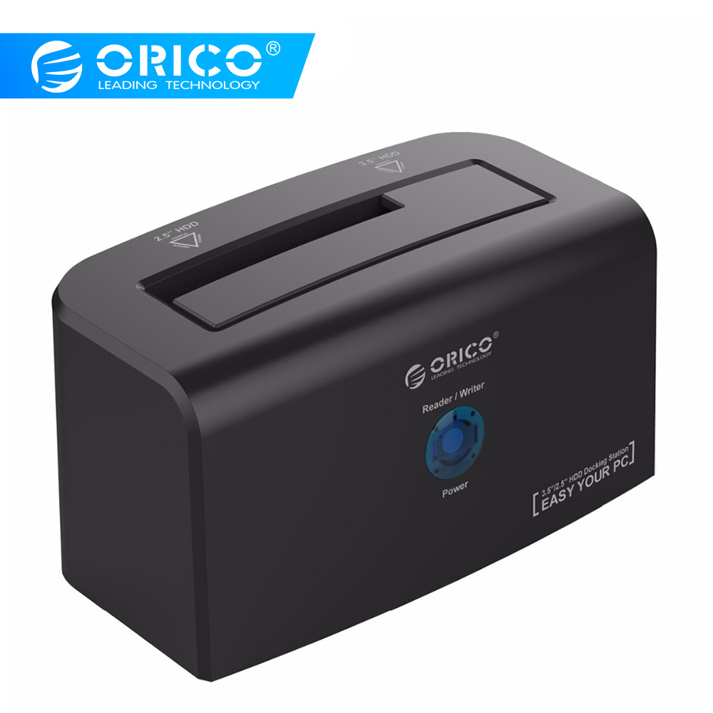 ORICO USB3.0&eSATA Hard Drive Docking Station Support 10TB Storage SuperSpeed Hard Drive For 2.5 & 3.5 Inch HDD & SSD (8618SUS3)