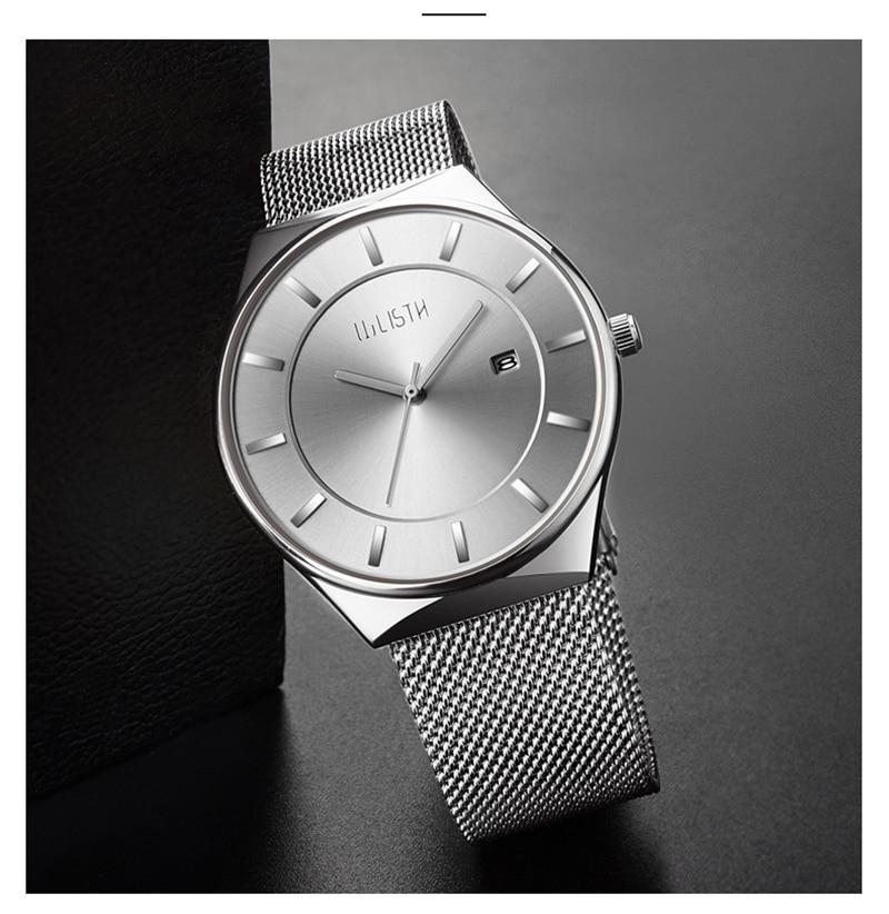 Malha De Aço Inoxidável Relógio Dos Homens