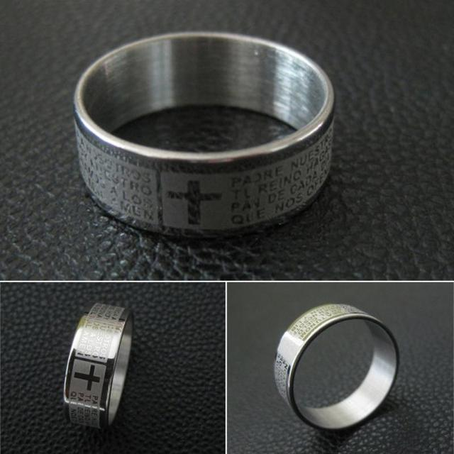 The Lord of the Rings Cross Ring for Men