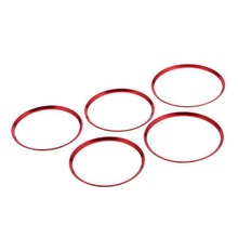 5Pcs Air Vent Outlet Ring Cover Trim Red For Mercedes Benz CLA C117 CLA180 CLA200 CLA250 X156 GLA GLA200 fits for mercedesmb w117 gts grille grill sport abs gloss black cla class cla200 cla180 cla250 without sign front grills 2016 in