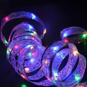 Image 2 - YIYANG 4M 40leds LED Di Natale Luce di Festa AA Batteria Del Merletto Arco Del Nastro Luci Della Stringa Per La Casa Giardino Decorazione Del Partito lampada Cinta