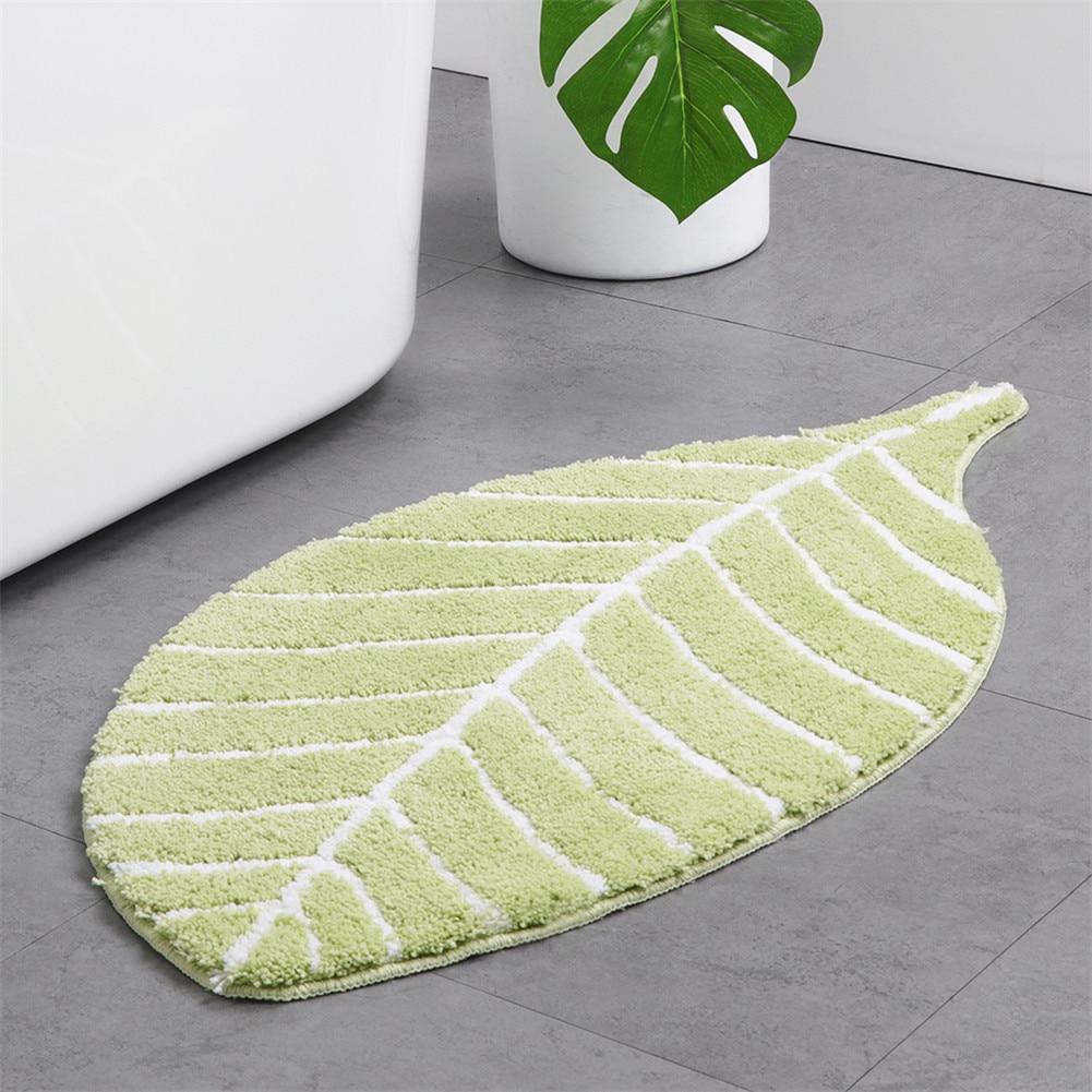 95X50cm Oversize Leaf Shape living Room Carpet Bathroom Mat Anti watering Door Mat Kitchen Anti slip Mat Machine Washed