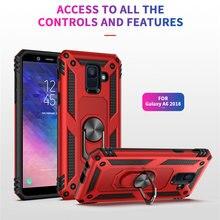 Per Samsung Galaxy A6 A8 2018 A6plus A8plus custodia cover per armatura per cavalletto per Samsung A6 A8 Plus A6 A8 2018 custodia per telefono con magnete