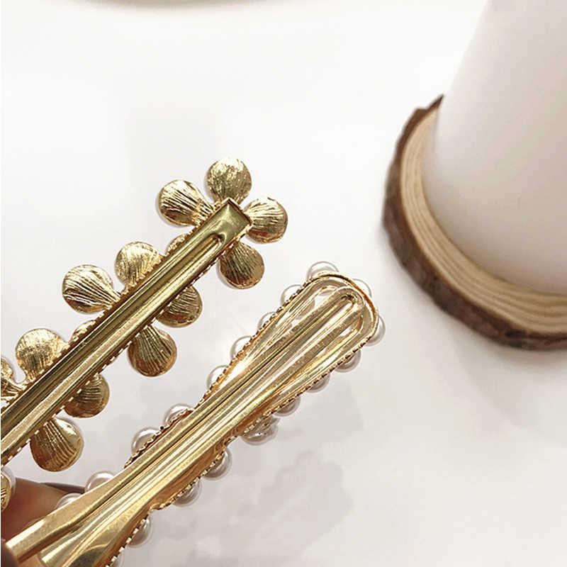 Ruoshui Женская жемчужная заколка имитация моды заколки для девочек корейский стиль Hairgrip Femme аксессуары для волос милые заколки
