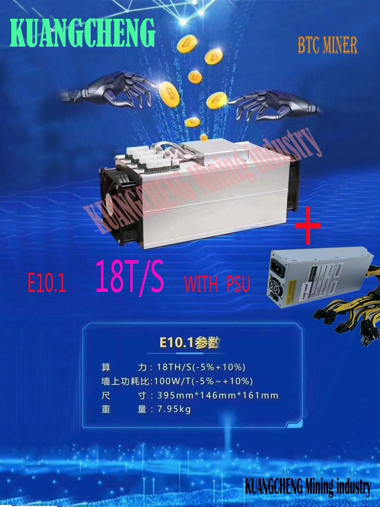 Nova BCH BTC Mineiro Ebit E10.1 18T SHA256 E9 + Antminer Asic Com PSU Melhor Do Que E9i S9 S9k t9 S11 R4 Z11 Z9 WhatsMiner M3 T2T A9