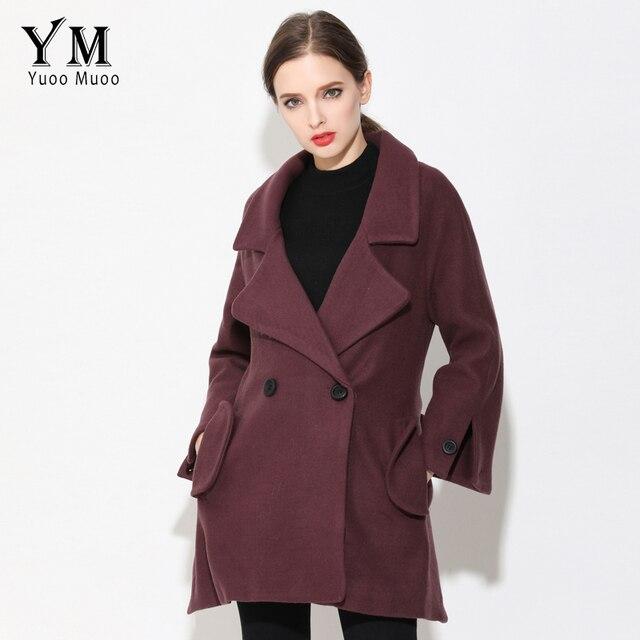 adbdc3d96 US $53.19 30% OFF|YuooMuoo New High Quality Wool Coat Winter Jacket Women  Warm Cashmere Coat European Brand Autumn Jacket Woolen Coat for Women-in ...