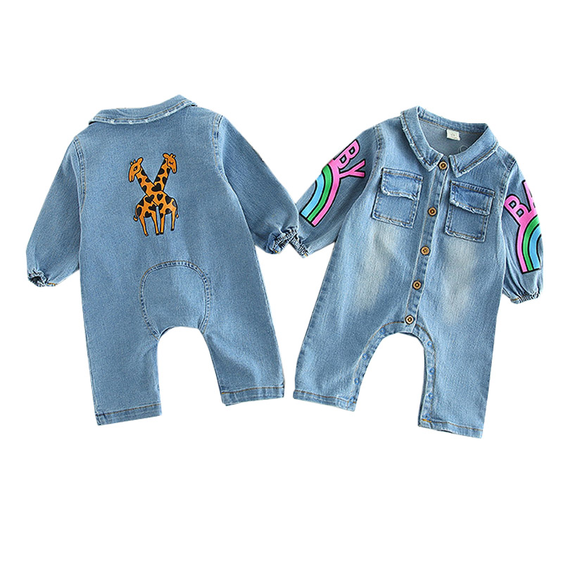 Baby Newborn Infantil Rompers 2019 Spring Autumn Cartoon Rainbow Jumpsuit Boy Girl High Quality Clothes Kids Toddler Costume