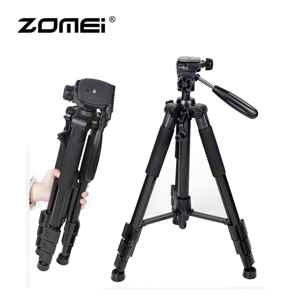 Zomei Professional Aluminum Folding Portable Travel Tripod with 3-way Pan Head Bag for SLR DSLR Camera Q111 Drop Shipping