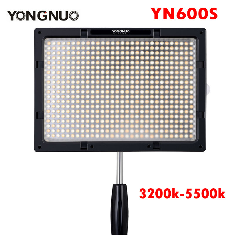 YONGNUO YN600S LED Video Light 3200K-5500K Ultra Thin Bluetooth Control by Phone APP for Canon Nikon Sony Panasonic