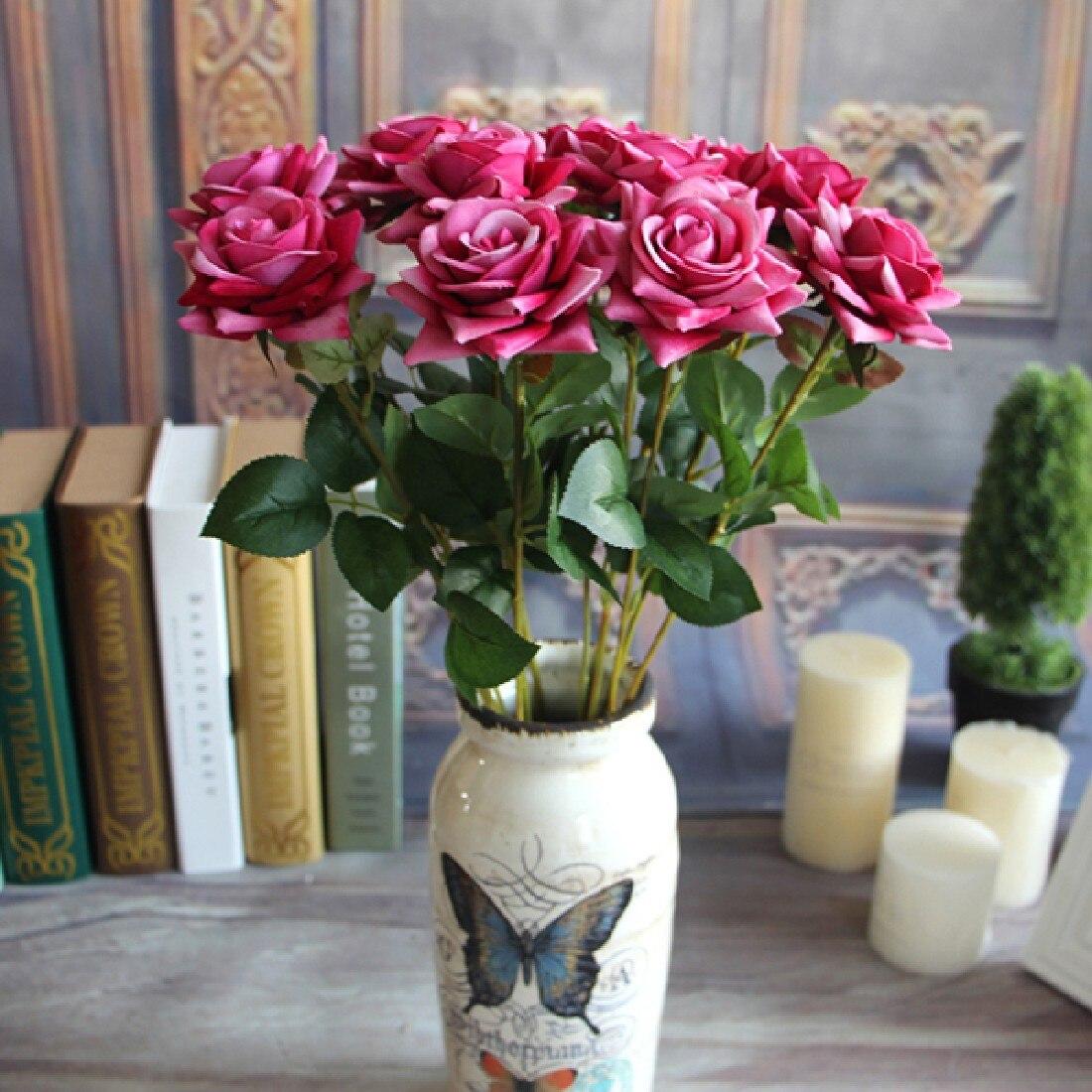 Лидер продаж, весенние искусственные цветы на День святого Валентина, букет, Свадебный домашний декор, настоящий сенсорный цветок