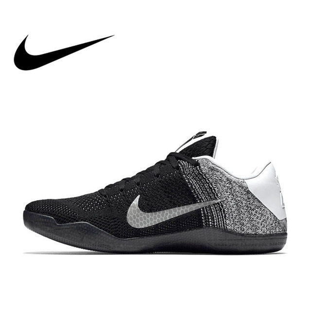 sale retailer 8efc4 84f6b US $285.55 21% OFF|Original Authentic Nike Kobe 11 Elite Zoom Air Low Men's  Breathable Basketball Shoes Sports Sneakers Non slip Lightweight 822675-in  ...