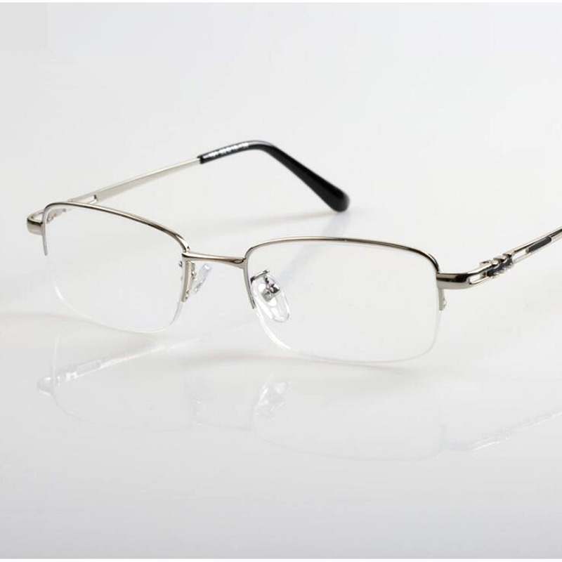 c7e36e53db1 Brand Design Metal Half-rim Men Women Bifocal Reading Glasses Presbyopic  Eyeglasses Spectacles Reader Eyeglass