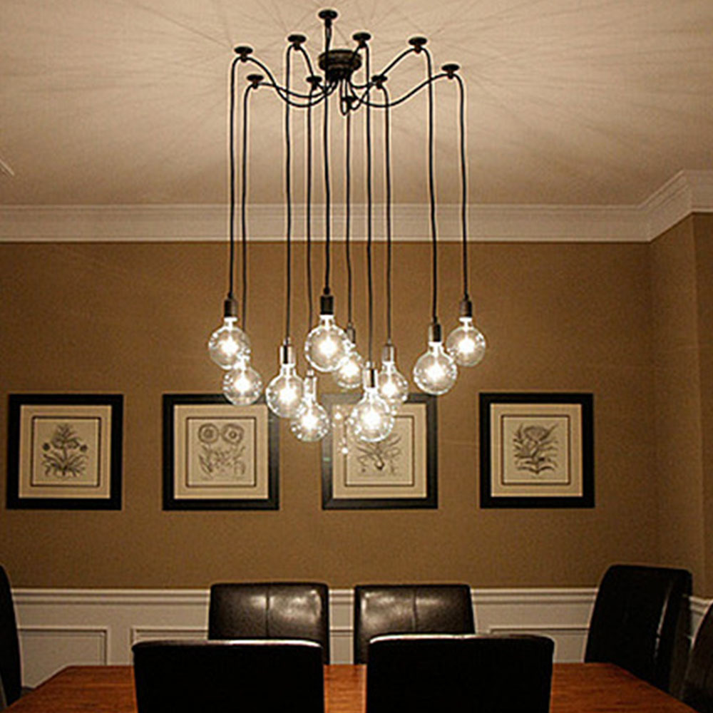 Industrial Vintage Us 99 98 Novelty Spider 10 Arm Edison Bulb Pendant Light Industrial Vintage Loft Hanging Lamp Bedrooms E27 Art Lamps Fixture Luminaria In Pendant
