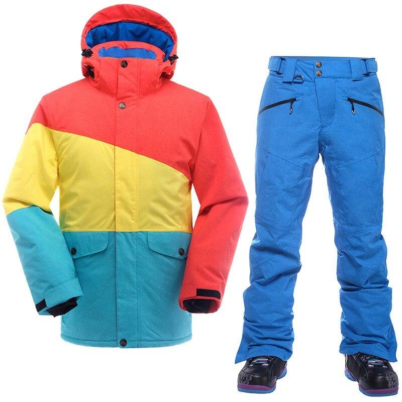 SAENSHING marque Ski costume hommes Ski de montagne costume pour hommes imperméable thermique Snowboard veste + pantalon de Ski respirant hiver neige - 3