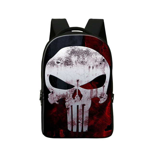 Personalized skull backpacks for college students,cool mens ghost ...