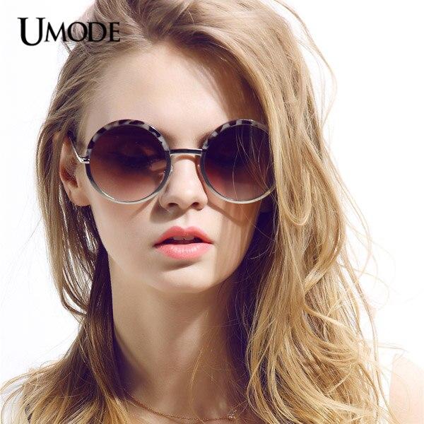 de505623dc Umode Leopard Frame Round Shape Sunglasses Gradient Flash Lens Women  Sunglasses for Fashion Ladies Gafas Feminino