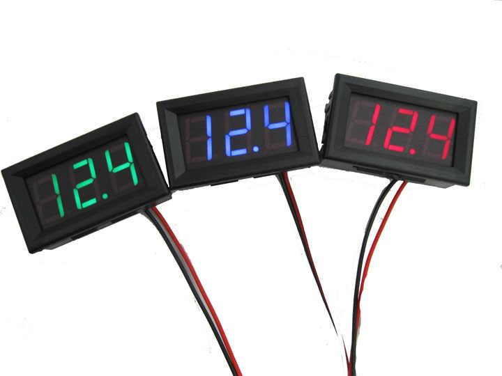 Mini voltmeter tester Digital voltage test battery DC 0-30V red auto car JALUK