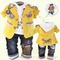 Anlencool ropa infantil primavera y otoño masculino niño bebé 100% algodón de tres piezas conjunto niño ropa chaqueta envío gratis