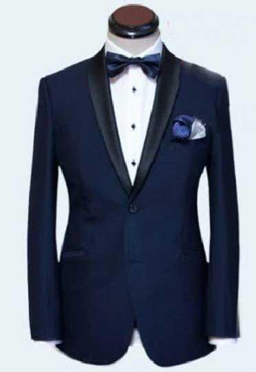 Us 126 99 Men S Dark Blue Business Suits Formal Suits For Men One Set James Bond Men Wedding Suits Groom Tuxedos Coats Pants Tie In Suits From