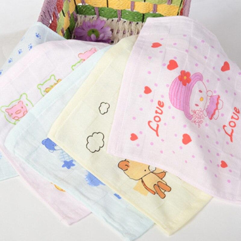 Cotton Baby Towels Scarf Boy Girl Handkerchief Bathing Feeding Face Washcloth Wipe Burp Cloths 3D