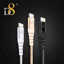 D8 [Mfi Certified] 1m USB Line Lightning Data Cable for iPhone XS MAX XR X 8 7 6s 5s Woven Cable IOS System Cable For iPhone XS