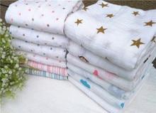 Multifunctional Baby Organic Cotton Muslin Swaddle Blanket Swaddling Blankets Newborn Infant baby blanket Bath Towel Hold