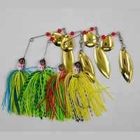 4PCS/Lot Fishing lures20.5G Hooks Spinner bait swivel wobbler isca artificial hard bait fishing tackle Swimbait tackle all depth