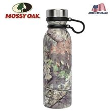 MOSSY OAK 20.5Oz Vacuum Insulated Water Bottle Stainless Steel Wide Mouth Leak-Proof Double Walled Cola Shape Camo