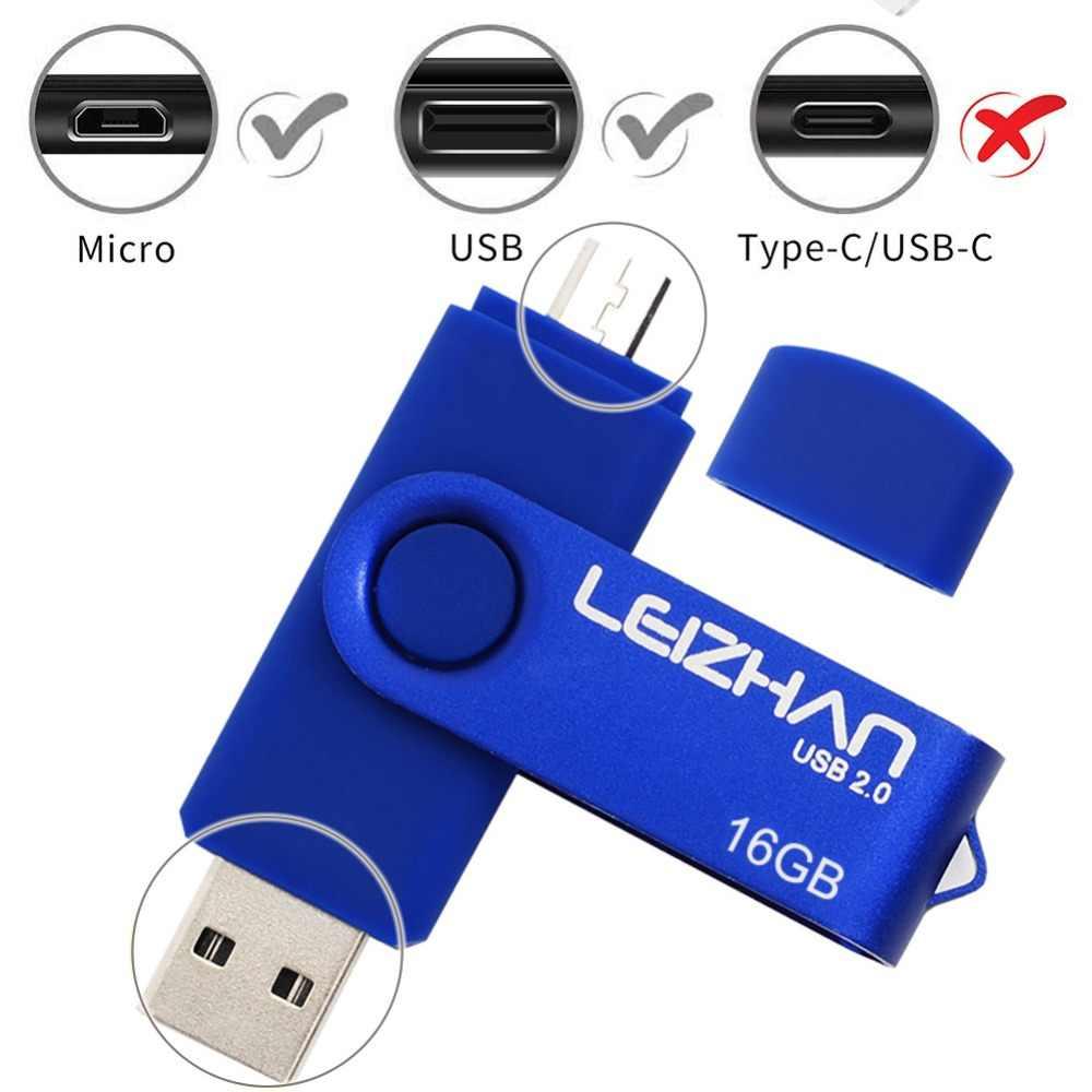 LEIZHAN 128 جيجابايت مايكرو محرك فلاش USB 64 جيجابايت 32 جيجابايت 16 جيجابايت 8 جيجابايت 4 جيجابايت أندرويد القلم محرك صور عصا USB 2.0 ذاكرة عصا OTG خلية محرك