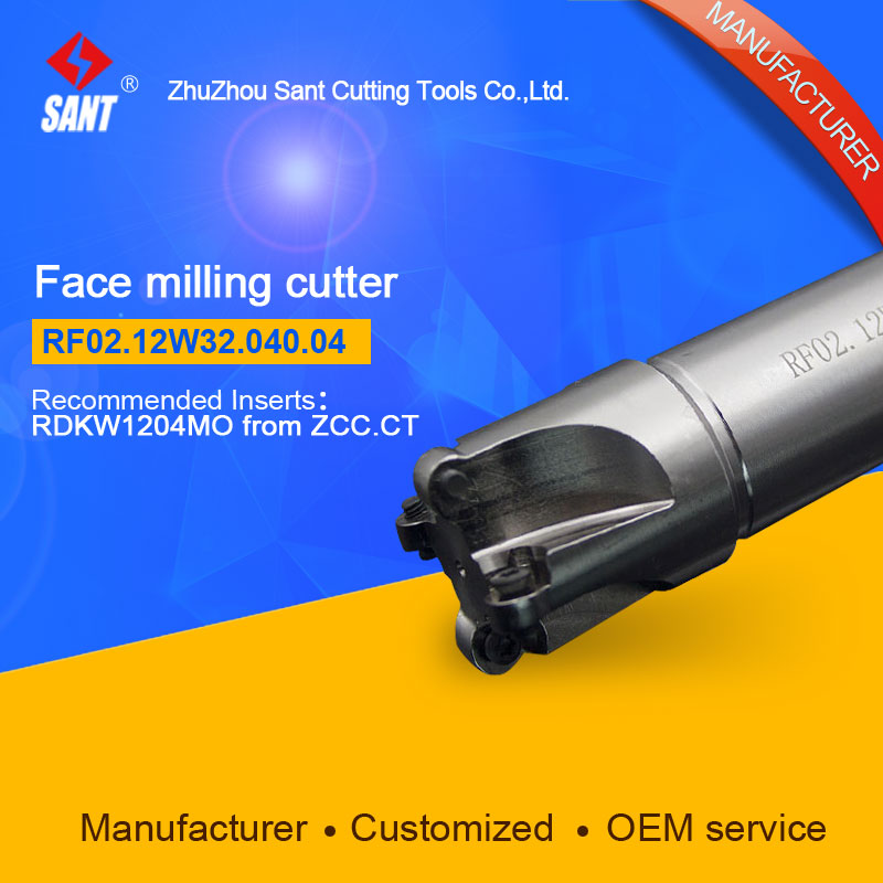 Milling tools Indexable milling cutter Match insert RDKW1204MO Face cutter cutting disc RF02.12W32.040.04/FMR03-040-XP32-RD12-04 high quality indexable milling cutter face milling tools bmr03 025 xp25 m for carbide insert xpht25r1204