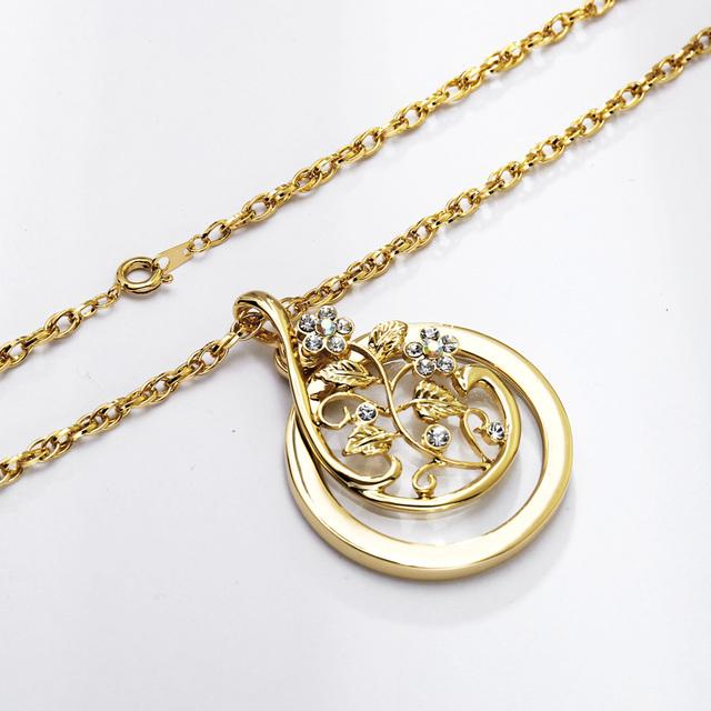 Women's Floral Embellished Pendant Necklace