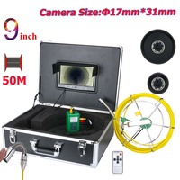 Yobang security 9 Inch Monitor 17mm Industrial Video Endoscope Camera Pipe Drain Wall Sewer Underwater Inspection Camera System
