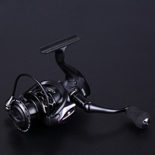 High Quality Spinning Fishing Reel Big Fish Speed 12+1BB Black Full Metal Head Arm Wheel Sea Tackle