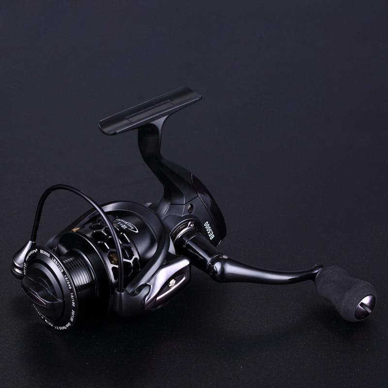 High Quality Spinning Fishing Reel Big Fish High Speed 12+1BB Black Full Metal Head Arm Fishing Wheel Sea Fishing Tackle