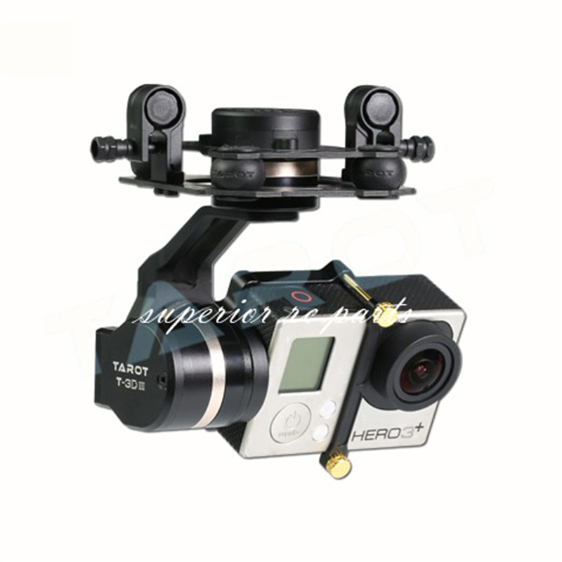 Tarot TL3T01 Update from T4-3D 3D Metal 3-axis Brushless Gimbal for GOPRO GOPRO4/GOpro3+/Gopro3 FPV Photography tarot gopro 3dⅢ metal cnc 3 axis brushless gimbal ptz for gopro 4 3 3 fpv quadcopter tl3t01