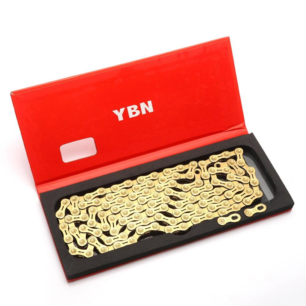 YBN 11 velocidad cadena bicicleta medio hueco 10 velocidad cadena de oro de montaña bicicleta de carretera 11 Variable ultraligero en caja para Shimano /SRAM