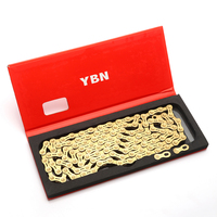 YBN 11 Speed Chain Bicycle Half Hollow 10 Speed Chain Golden Mountain Road Bike 11 Variable Ultralight Boxed For Shimano/SRAM