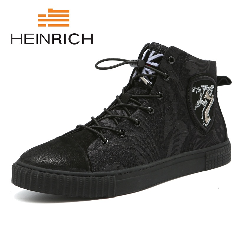HEINRICH 2018 New Arrival British Fashion Men Shoes Comfort Breathable Genuine Leather Casual Shoes Lace-Up Men Tide Shoes qffaz new summer men casual shoes fashion leather shoes breathable casual british style lace up men casual shoes size 38 48