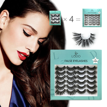 New 3/7/12 Pairs 3D Mink Hair False Eyelashes Flower 25mm Lashes Thick Long Fluffy Handmade Fashion Eyelash Makeup Tools