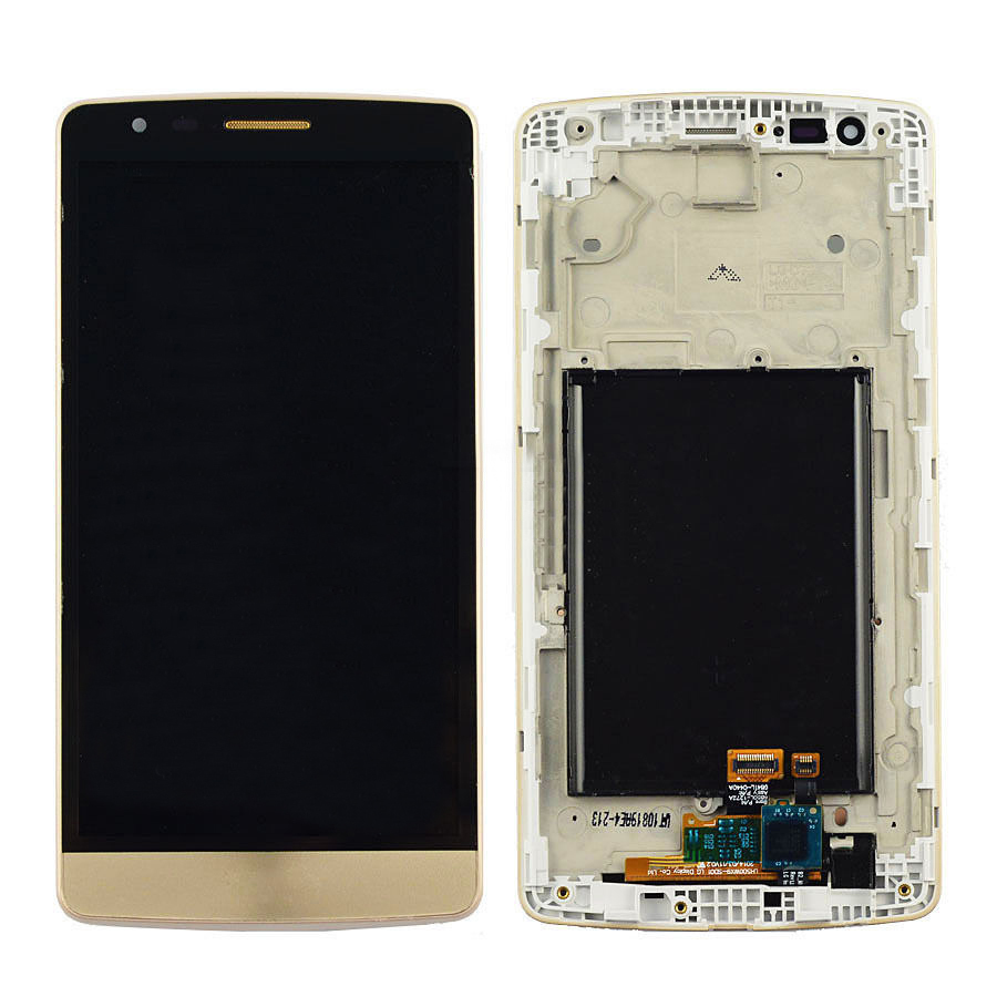 +Frame Gold LCD Display + Touch Screen Digitizer Assembly Replacement For LG G3 Mini D722 D724 D728 Shipping original lcd display touch screen digitizer assembly with frame for alcatel one touch idol mini 6012 6012a replacement