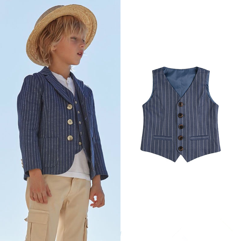 Brand High quality boy wear Continental gentleman single breasted suit vest single breasted knot blouse