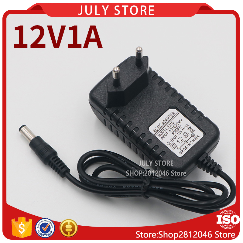 цена на 1PCS Good quality AC/DC Adapter DC 12V 1A AC 100-240V Converter Adapter,12V1A Charger Power Supply EU Plug DC 5.5*2.1-2.5mm