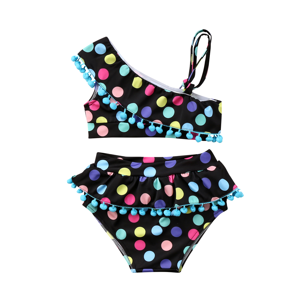 Toddler Baby Girls Kid Clothes Sets Tassel Tops Bodysuits Bottoms Swimsuit Tankini Bikini Swimwear Beachwear 2pcs Girl 2-7T