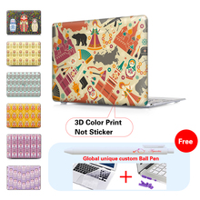 NEW Russia factor print Case For Apple macbook Air 11 12 Professional 13 15 Contact bar Mannequin A1706 A1707 laptop computer bag For Mac air 13.three inch
