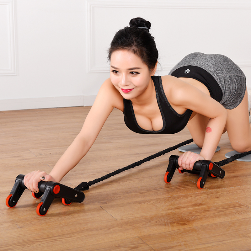 Sports abdominal fitness equipment Core Double Power AB roller trainer wheels fitness Abdominal body building and exercises(China)