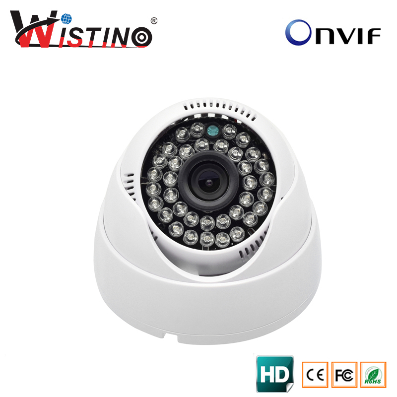 Wistino HD 720P Indoor Dome IP Camera Security CCTV 1.0MP Surveillance ONVIF 2.0 P2P IR-Cut Filter Night Vision Free shipping free shipping sony ccd cctv camera 1200tvl ir cut filter security ir dome camera indoor home security night vision video camera
