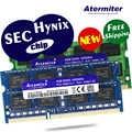 새로운 2 gb 4 gb 8 gb 2g 4g 8g pc3l pc3 ddr3 1066 mhz 1333 hz 1600 mhz 8500 10600 12800 노트북 메모리 노트북 ram hynix 칩 sec 칩