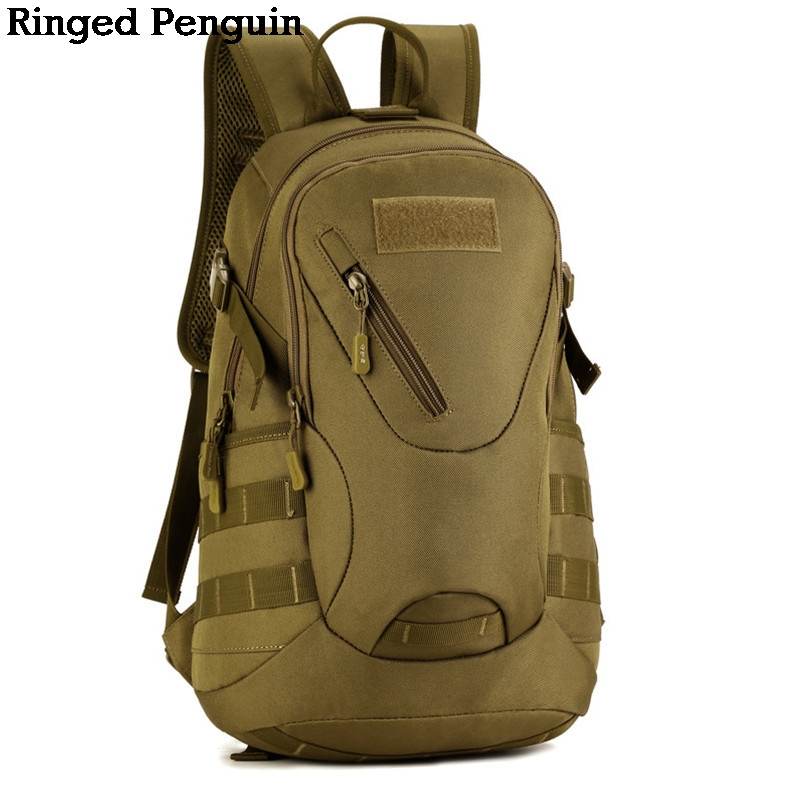 Ringed Penguin Waterproof 3D Military Tactics Backpack Rucksack Bag 20L for Hike Trek Camouflage Travel Backpack waterproof military tactics molle backpack multifunctional men backpack rucksack for hike trek camouflage travel backpacks h85